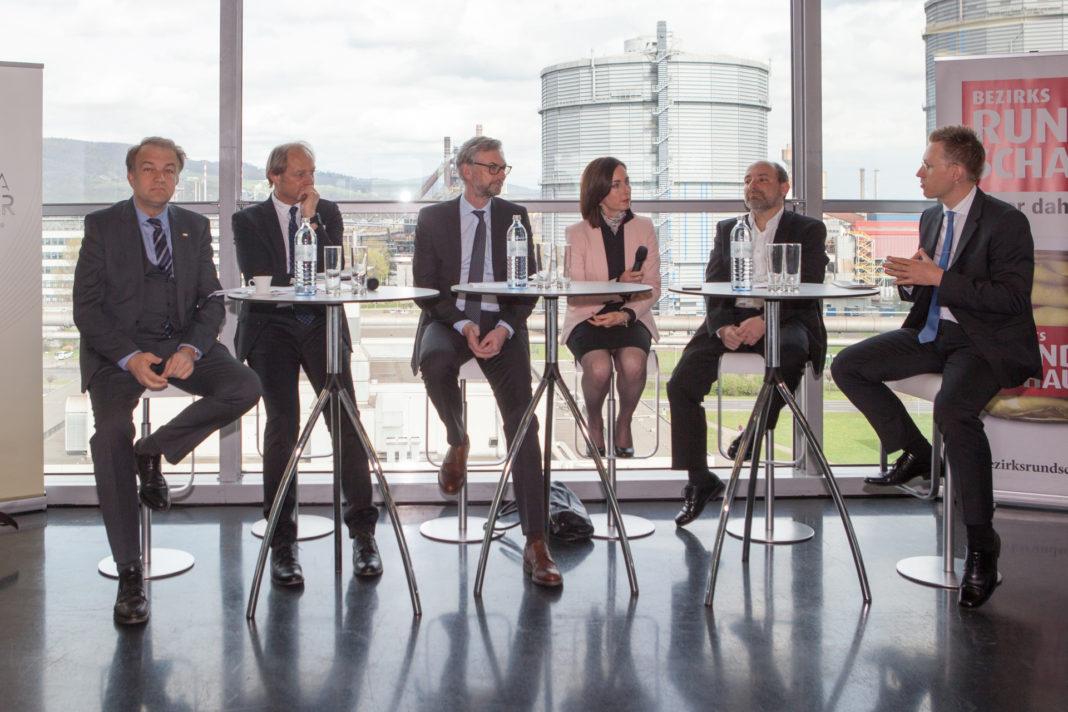 FutureTalk with Meinhard Lukas, Alois Ferscha, Michael Strugl, Manuela Macedonia, Michael Shamiyeh and presenter Thomas Winkler