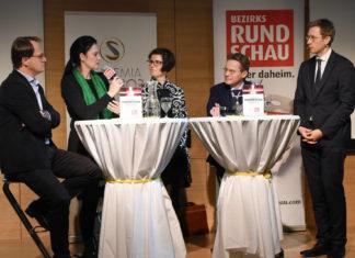 Markus Hengstschläger, Petra Apfalter, Daniela Gattringer, Andreas Gruber und Thomas Winkler beim Gesundheitstalk © Andreas Röbl