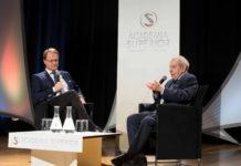 Markus Hengstschläger und Paul Lendvai im Gespräch beim PLENUM
