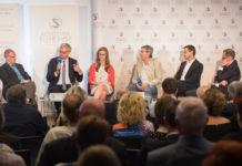 On the podium: Burton Lee, Michael Strugl, Julia Eschelbeck, Johann Čas, Matthias Fink, Christoph Wurm