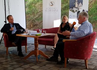 Markus Hengstschläger, Martina Mara and Sepp Hochreiter at the fireside-talk