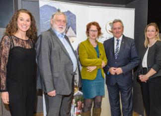 Katharina Fernández-Metzbauer, Franz Fischler, Ulrike Guérot, Viktor Sigl und Claudia Schwarz