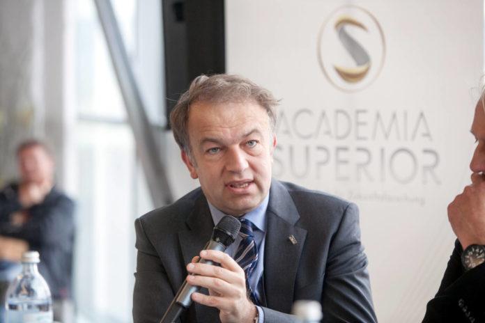 Meinhard Lukas beim FutureTalk in der Voestalpine Stahlwelt 2016