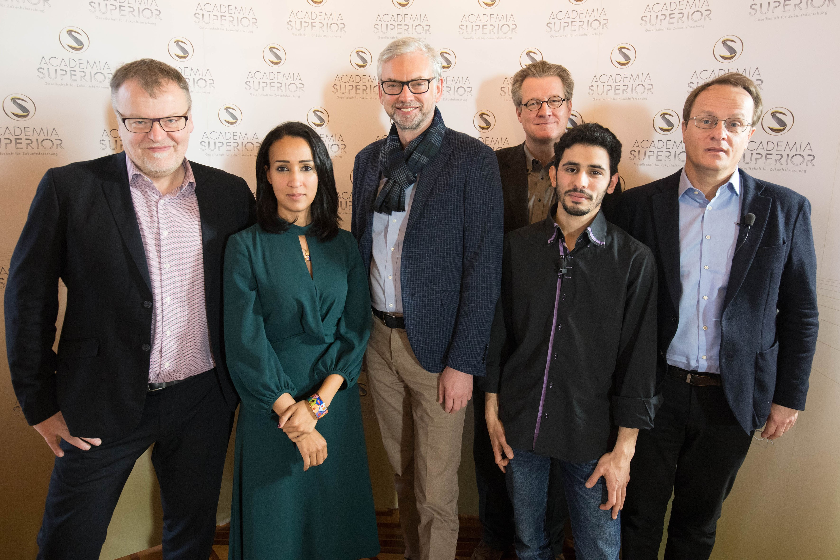 Stefan Ruzowitzky, Manal al-Sharif, Michael Strugl, Philipp Blom, Aeham Ahmad, Markus Hengstschläger