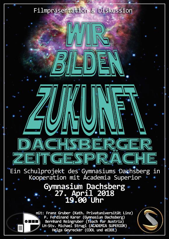 Plakat Dachsberger Zeitgespräche Wir bilden Zukunft