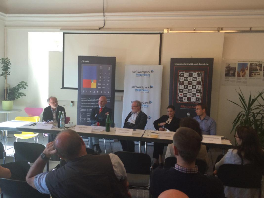 Panel: Eugen Jost, Günther Vormayr, Erich Peter Klement, Ulrike Greiner, Markus Hohenwartner