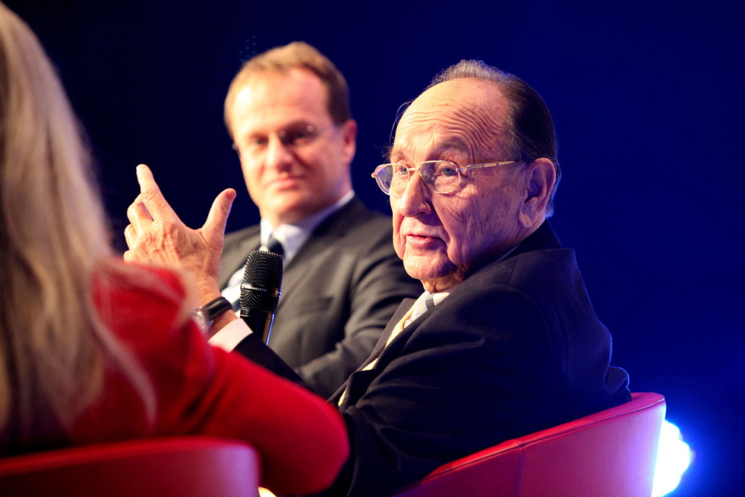 Former German Foreign Minister Hans-Dietrich Genscher at the Launch-Event