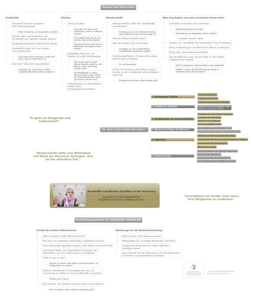 MindMap: Interview mit Herta Steinkellner (dt)