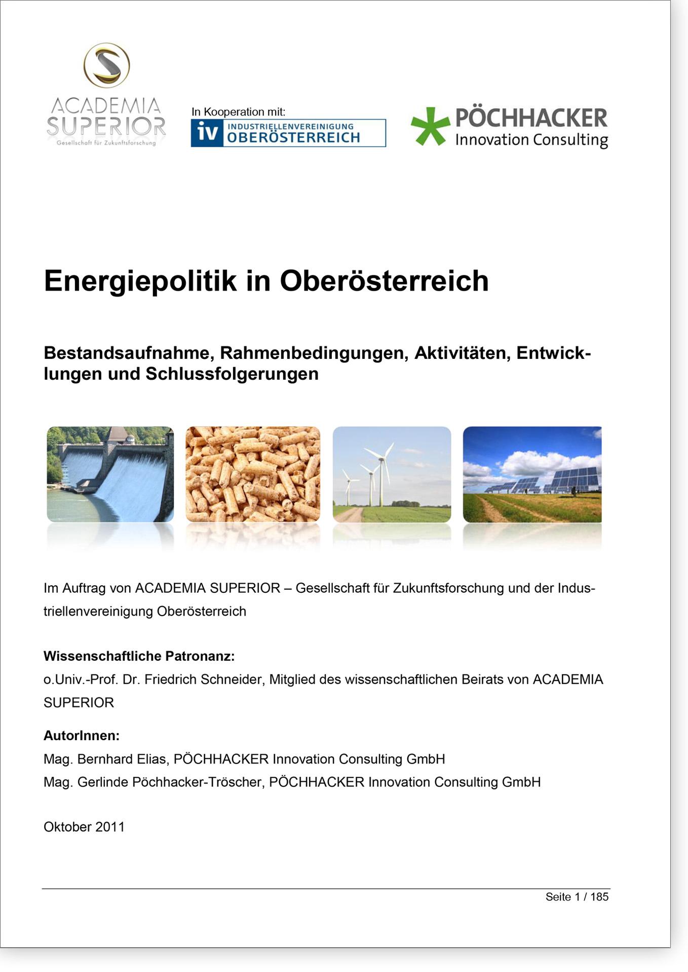 Cover Basisdossier Energiepolitik in Oberösterreich
