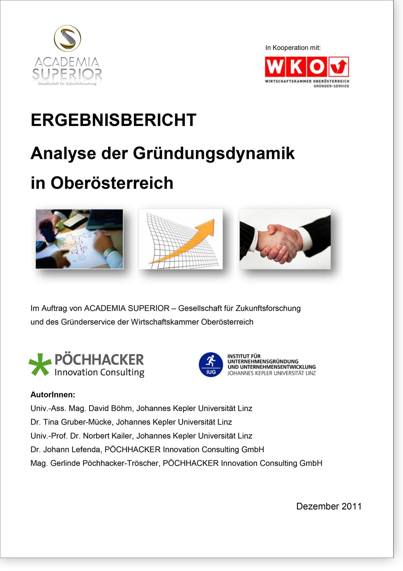 Cover Analyse der Gründungsdynamik in Oberösterreich