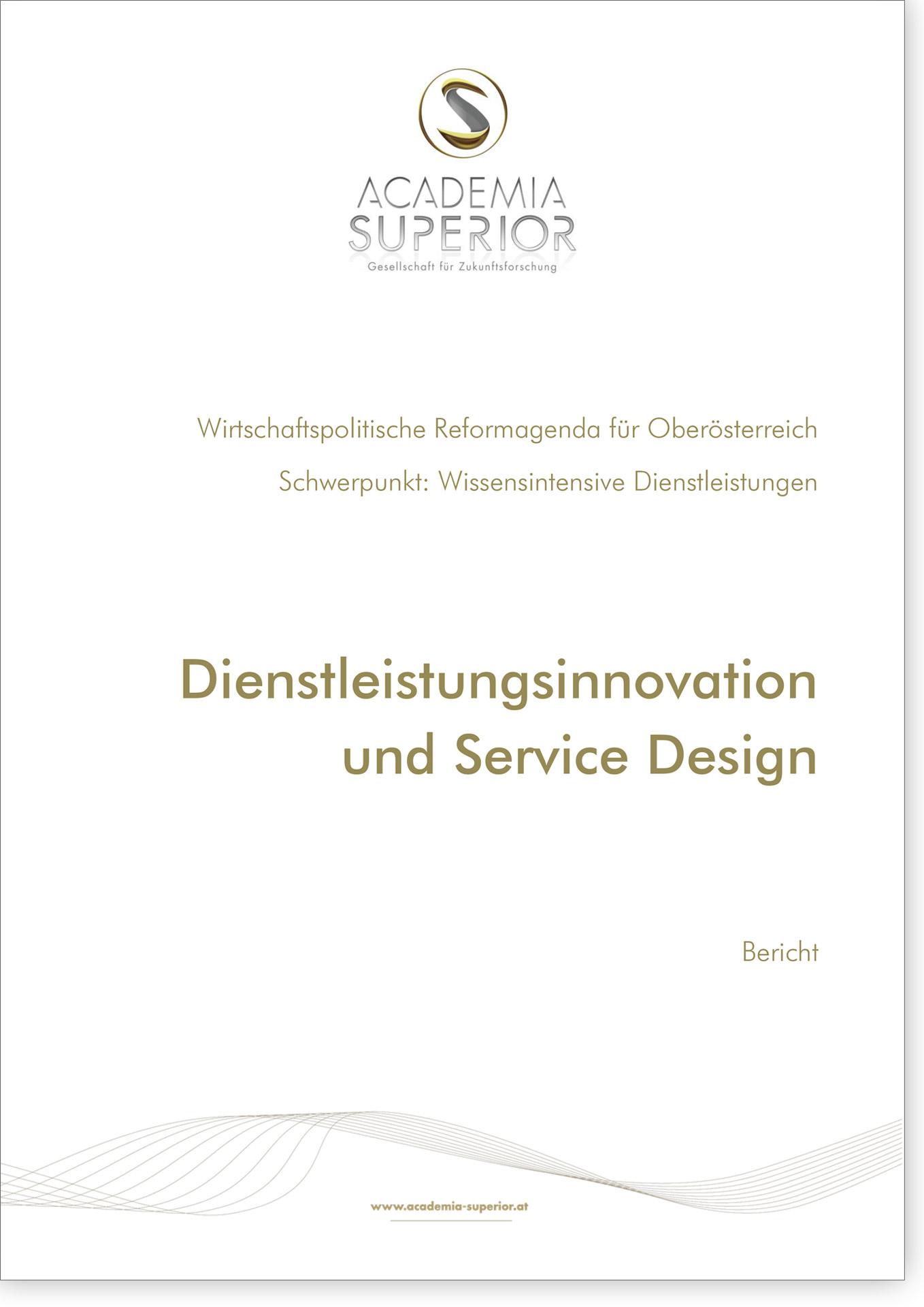 Cover Bericht Dienstleistungsinnovation und Service Design