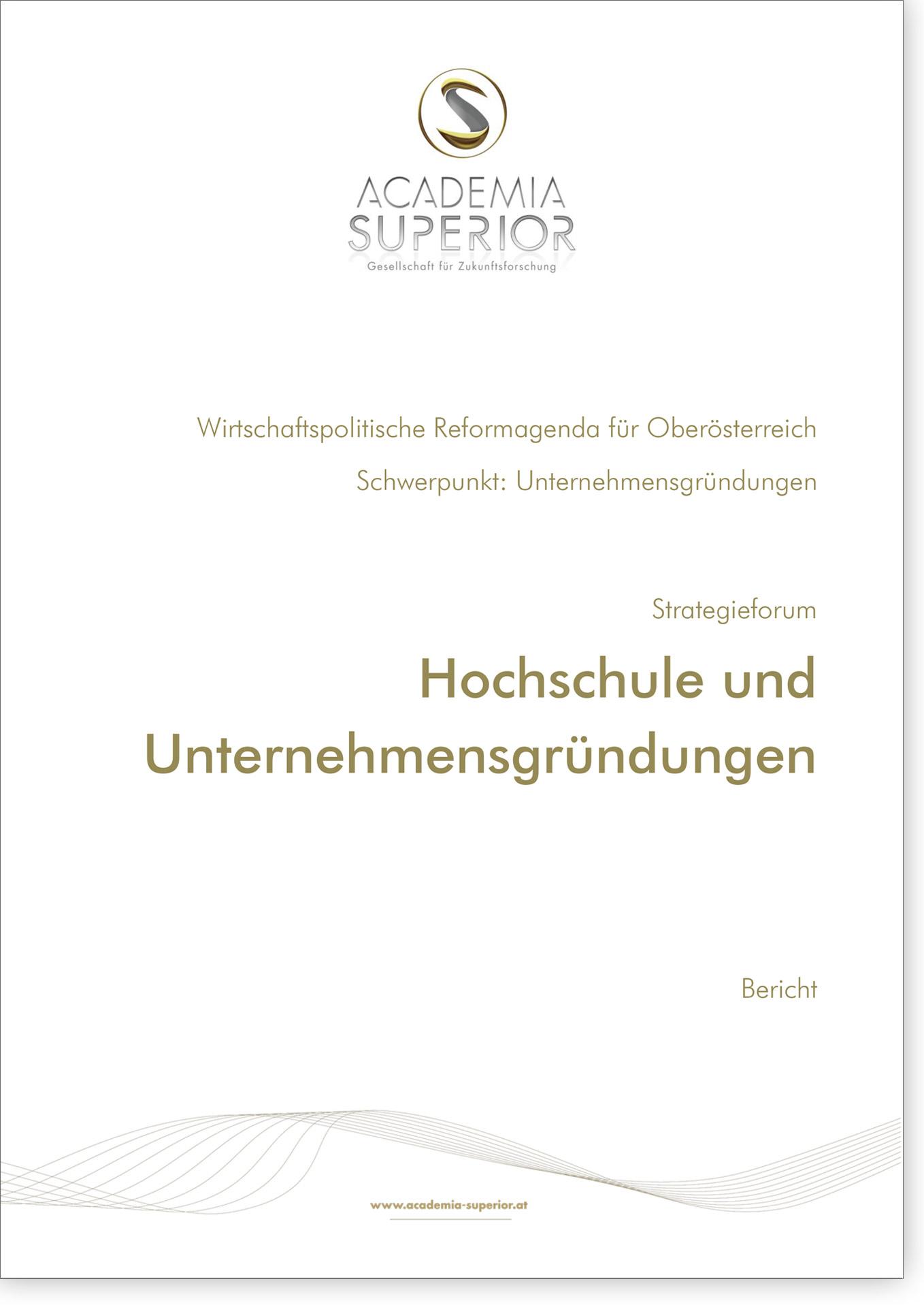 Cover Bericht Hochschule und Unternehmensgründungen