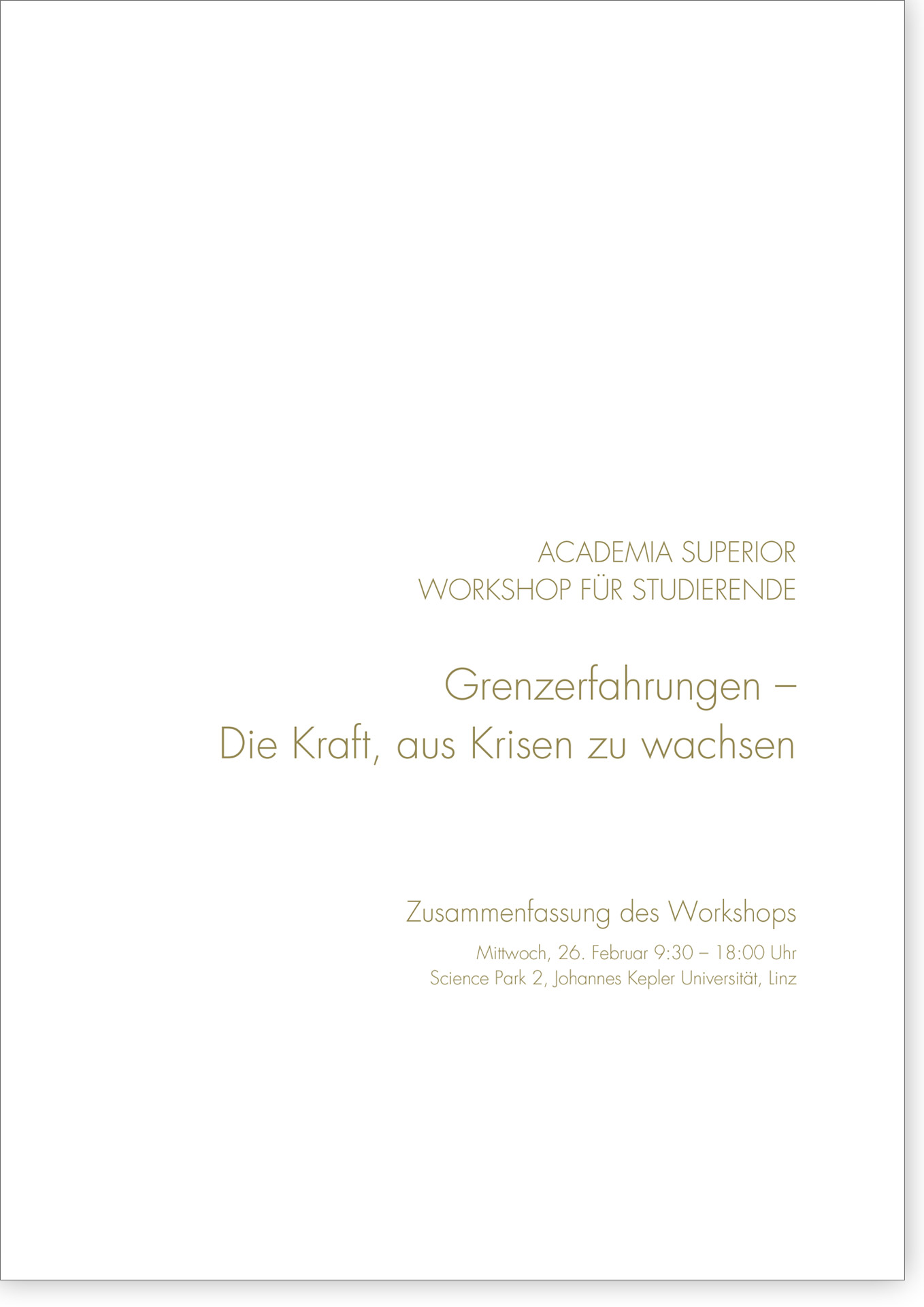 Cover Studierendenworkshop 2014 Grenzerfahrungen