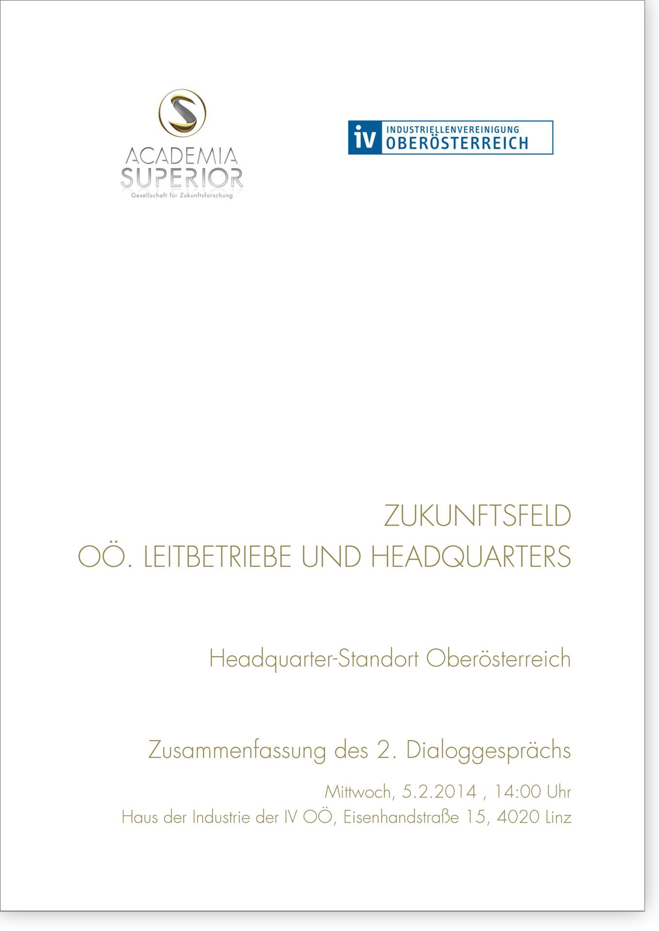 Cover Dialoggespräch Headquarter-Standort Oberösterreich