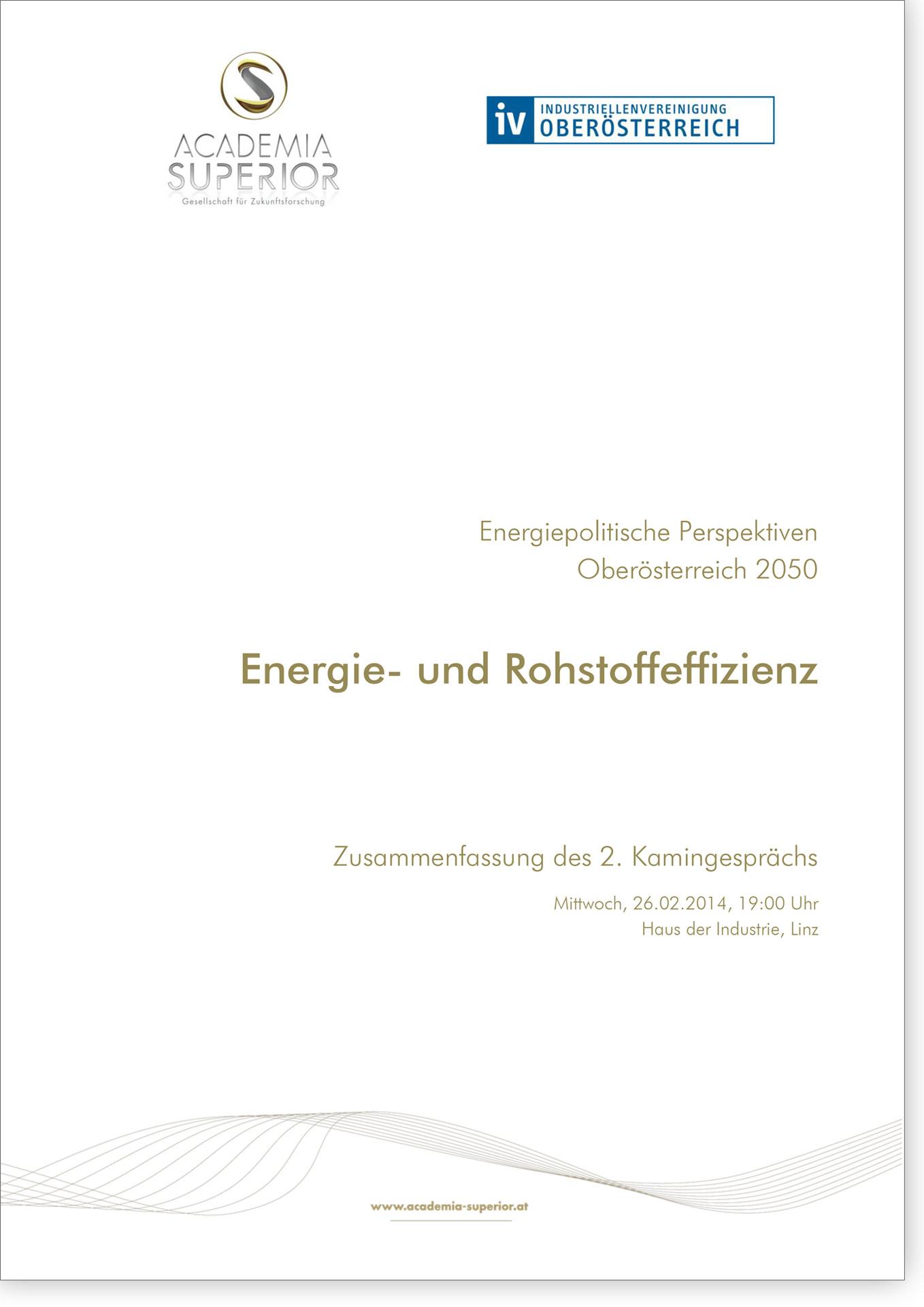Cover Kamingespräch Energie- und Rohstoffeffizienz
