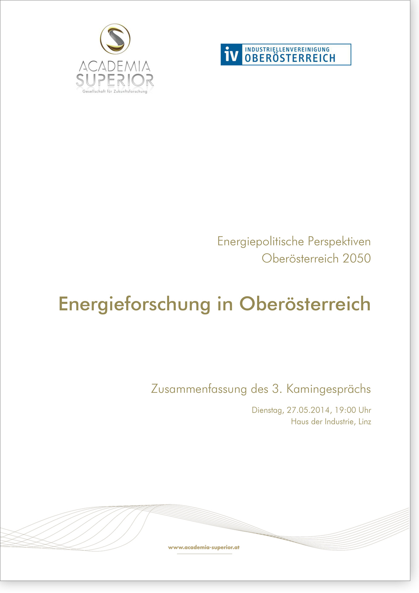 Cover Kamingespräch Energieforschung in Oberösterreich
