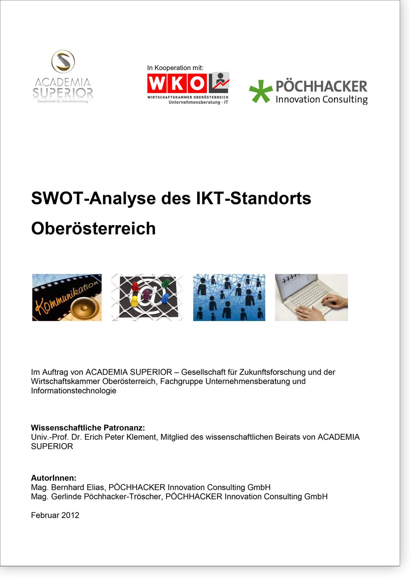 Cover SWOT-Analyse des IKT-Standorts Oberösterreich