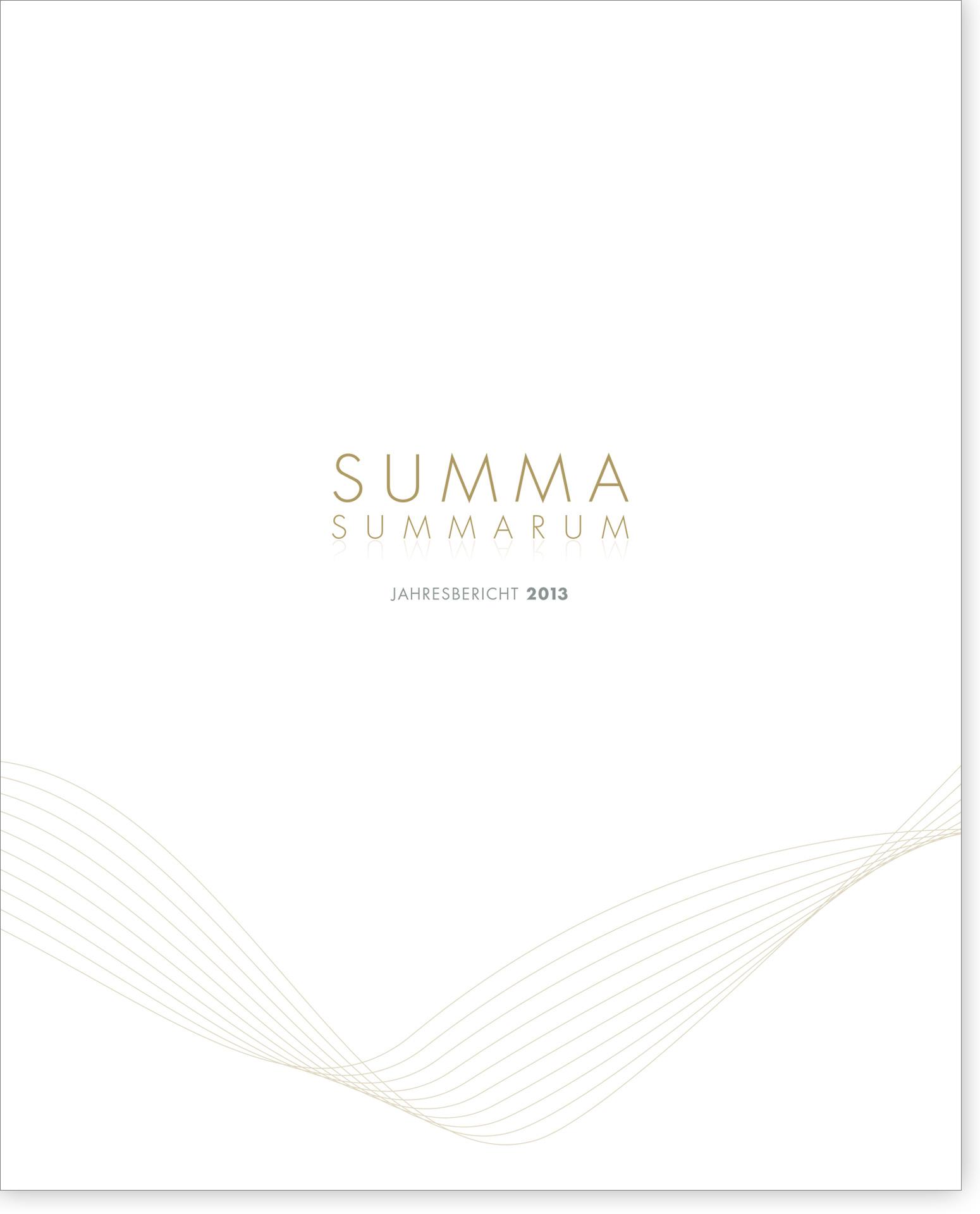 Cover Summa Summarum 2013