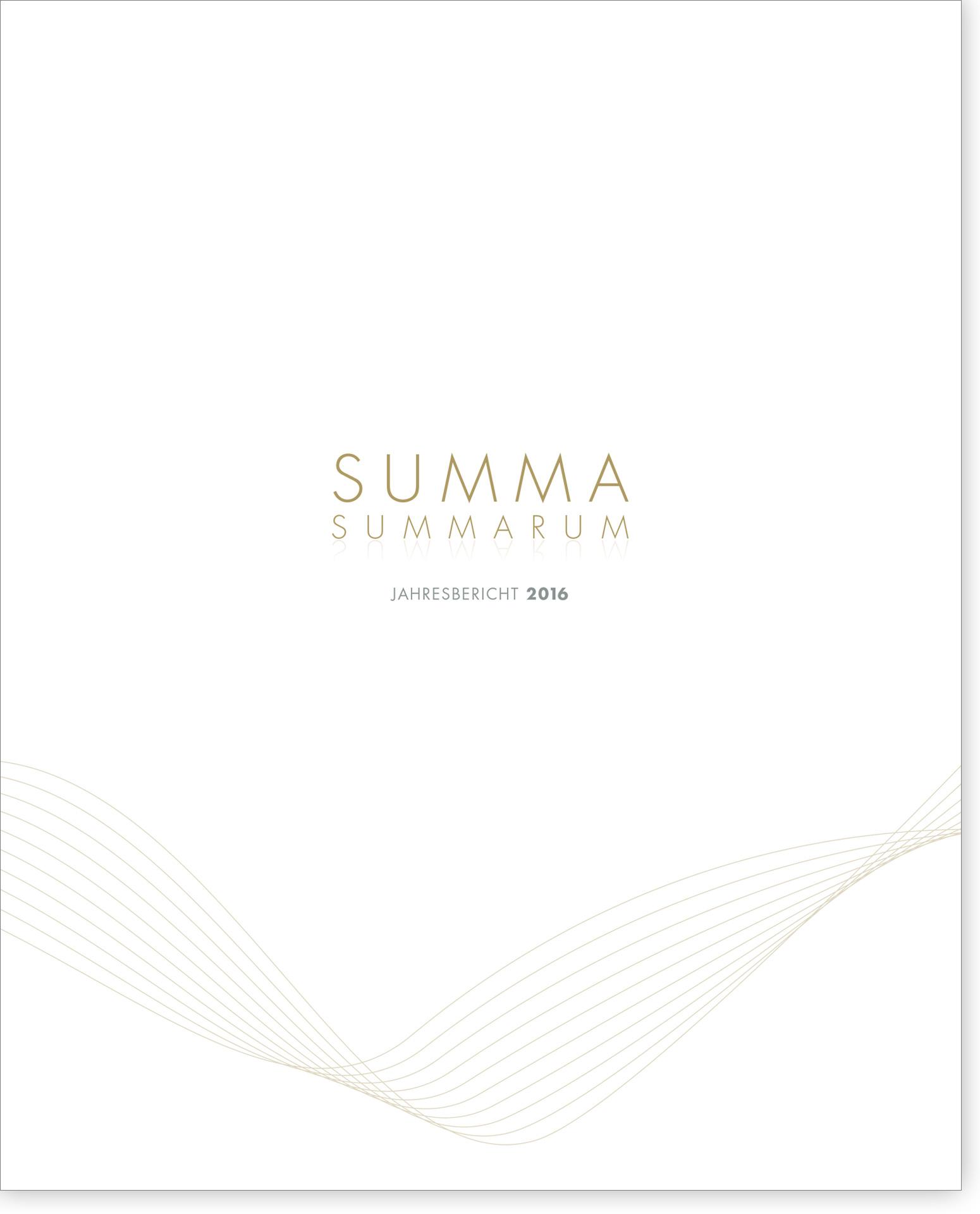 Cover Summa Summarum 2016