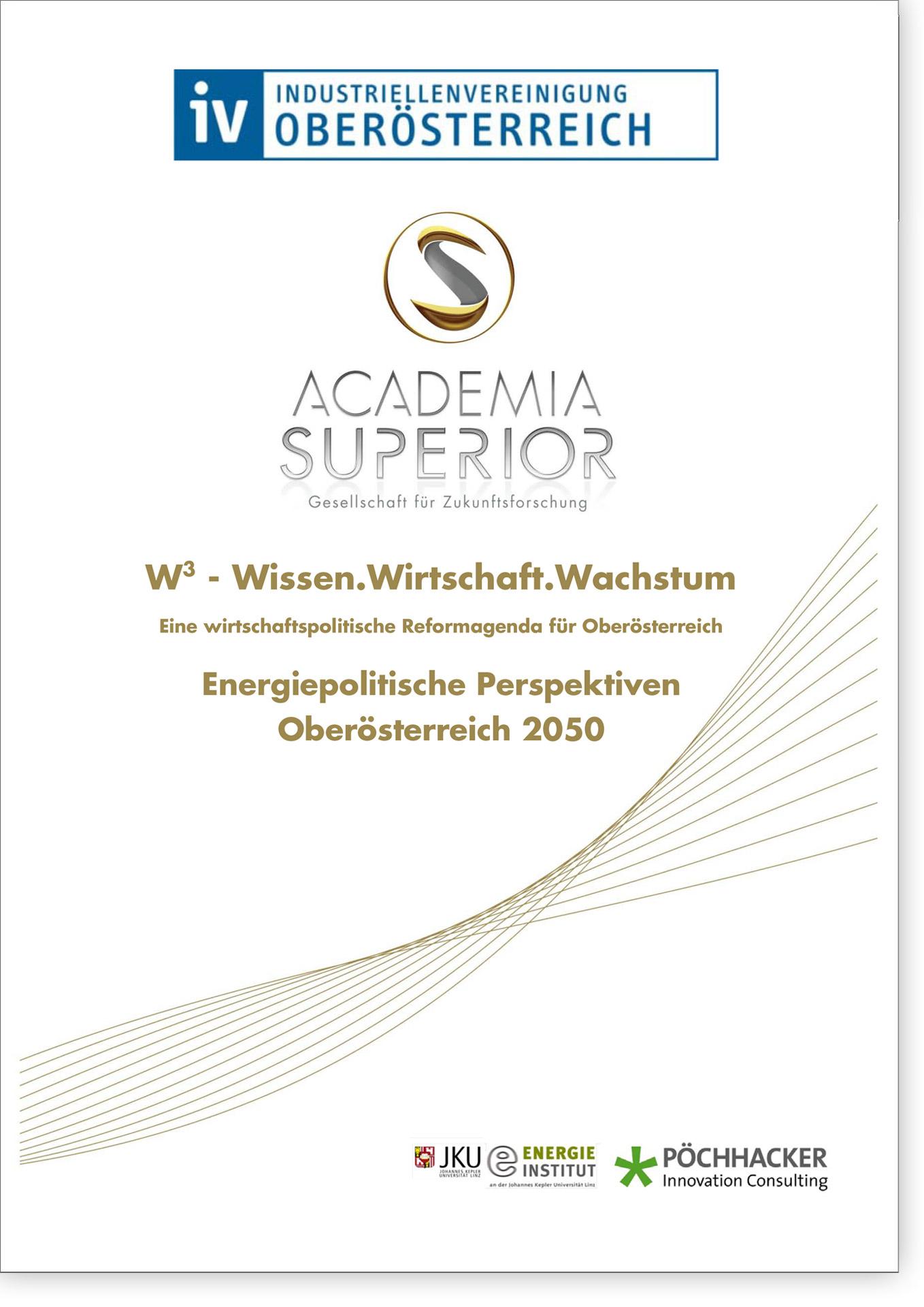 Cover W3 Energiepolitische Perspektiven Oberösterreich 2050