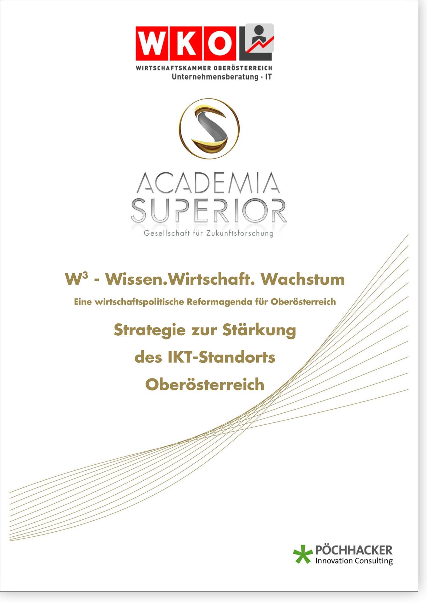 Cover W3 Strategie zur Stärkung des IKT-Standorts Oberösterreich