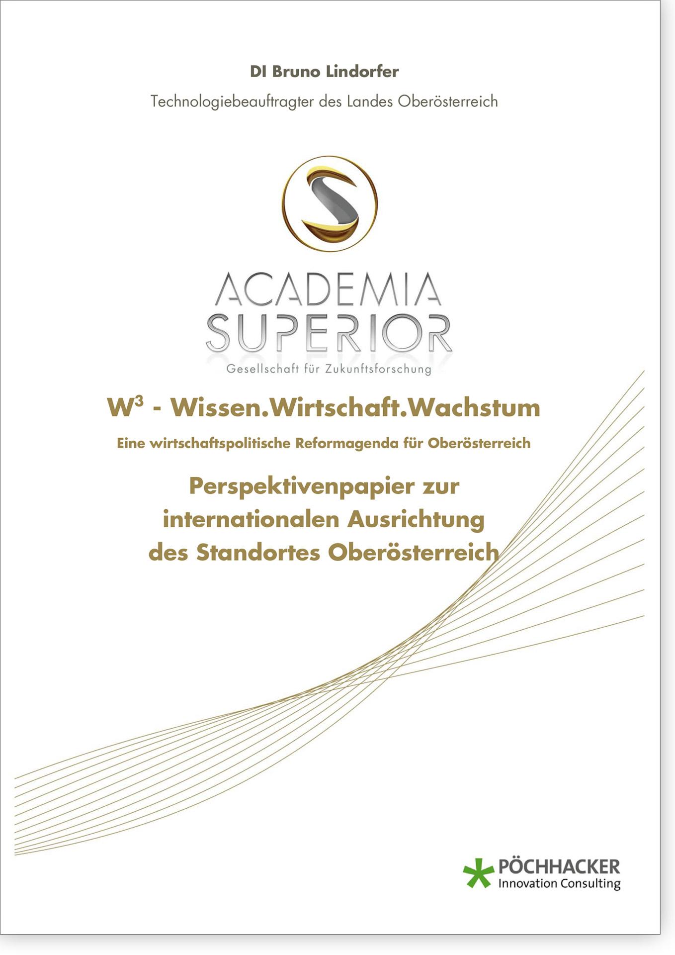 Cover W3 Perspektivenpapier zur internationalen Ausrichtung des Standortes Oberösterreich